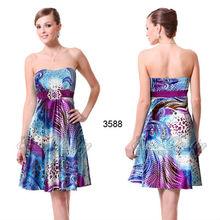 03588PP imprimé Floral bretelles Diamante mode robe 2013