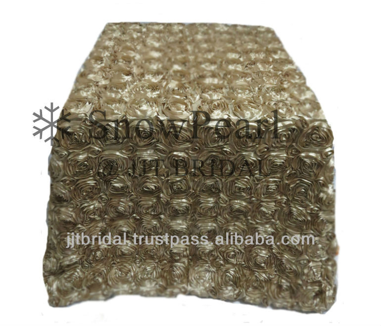 2013 New Fancy Hot Sale dark Champagne Rose Wedding Event Banquet Table cloth TB023_C