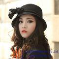 2014 recién diseñado para mujer de ala ancha de fieltro de lana sombrero