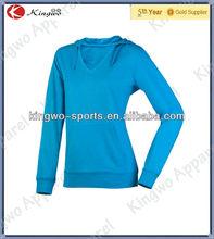 China cheap sportswear custom made plain hoodie woman sportswear