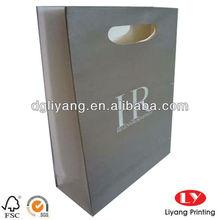 Popular Grey Die Cut Paper Bags Printing Packaging