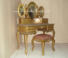 Classic Dressing Stool Gold Painted Dresser Classic Bed Room Furniture European Style Home Furniture
