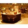 Macassar ebony folheado ~ projetado por eiri iwakura sofá para sala de estar taikobashi ~