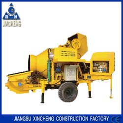 HBT1506-JZC350 Small Portable Concrete Mixer With Pump