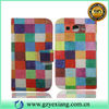 Colorful Design Cell Phone Wallet Case For Galaxy Grand Leather Case