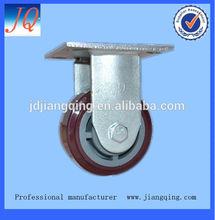 200mm heavy duty rigid pu caster wheel