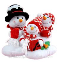 Christmas snowman family plush toys