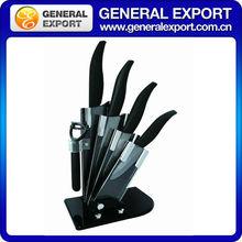 4pcs knife set black handle ceramic knife