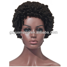 2014 new products short kinky afro wig | black synthetic wig | braids wig for black woman