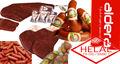 แฮมแฮมเนื้อแฮมไก่fenugreekวางสำหรับอาหารเช้าไส้กรอกไส้กรอกเนื้อไก่งวงเนื้อsoudjoukjambon100%ฮาลาล