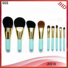9pcs natural hair make up brushes/natural make up brush