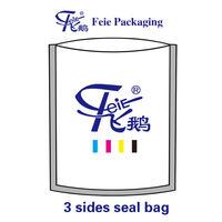 Three side seal food packaging type plastic bag