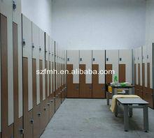 z shape wood grain hpl locker