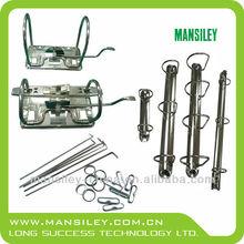 Metal lever arch box file clip with 122MM plastic compressor bar