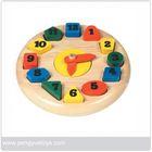educational toys,wooden Clock Block,math,shape sorter game PY1029