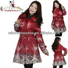 Sublimation Printing Latest Design Winter Lady Long Coat