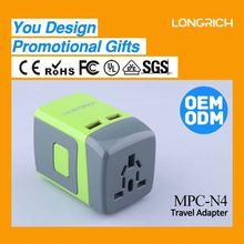 2014 LONGRICH OEM/ODM travel plug adapter walmart (MPC-N4)
