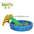 crianças indoor play slide feliz e bola de bilhar jogo