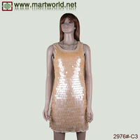 orange spandex tight evening party dress for girls(2976#-C3)
