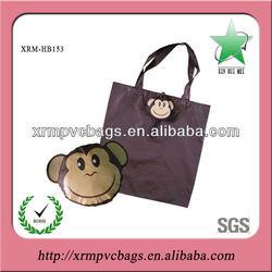 Lovely monkey foldable bag for shopping