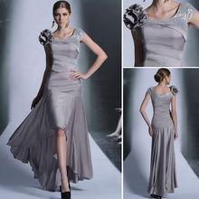 2013 dernière mode pour dames robe sexy gaine robe de soirée grise 6066 modèles de haute qualité