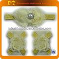 2014 venda quente tiaras infantis shabby brilhando flor mancha de fitas e flores de renda e tecido headband