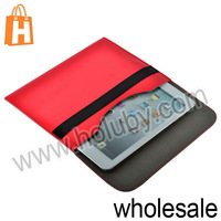 Smooth Full Cover Protection Leather Case Pouch for iPad Mini/Retina iPad Mini with Velcro Tape Closure (6 Colors Optional)