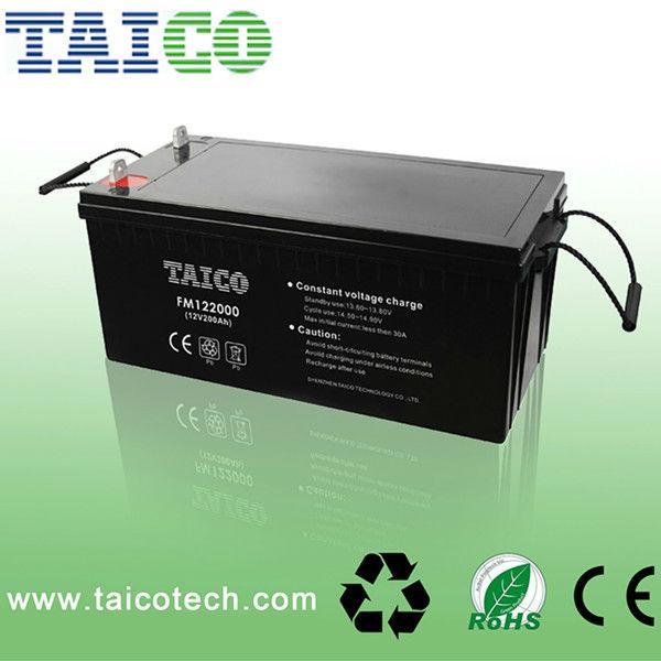 Sealed Deep Cycle 200ah lead acid 12v battery for solar systems