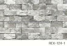 (124-1) 3D design Brick, Stone, Rock vinyl wallpaper, wallcovering, wall decoration, walldecor