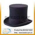 Negro de alta sombreros de copa con buena forro de fieltro 100% conejo puro y 15cm de altura y muñequera de cuero beedo desde
