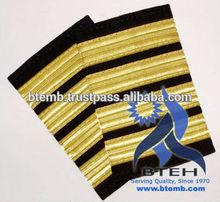 Pilot Epaulettes   Airline Epaulettes   Pilot Uniform Epaulettes with Gold Wire French Braids