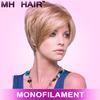 synthetic fashion design wigs for women mono wigs for women
