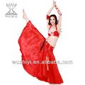 2014 de alta calidad danza del vientre de vestidos princesa para la niña, color rojo precioso desgaste de rendimiento, skirt+bra qc2083 traje
