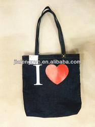 Fashion blue jean shopping bag tote bag with custom printing