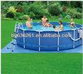 "15' x 48"" metal- quadro acima- terreno piscina"