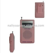 Mini AM FM 2 Band Pocket Radio with Speaker and Antenna