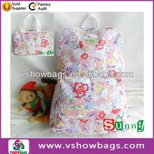 Flower reusable shopping bag folding nylon bag
