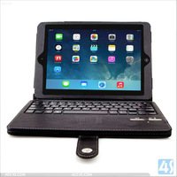 For New Apple iPad Air (iPad 5 5th Generation) Slim Hard Shell Leather Case with bluetooth keyboard P-IPD5CASE011