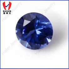 Popular round sapphire blue stone, low sapphire price per carat