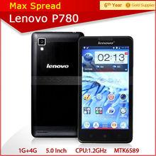 5.0'' android phone quad core MTK6589 1.2GHz dual sim 1gb ram 4gb rom 8MP cheap lenovo p780