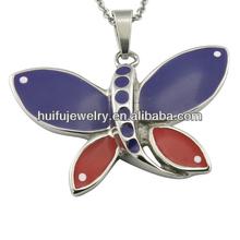 jewellry enamel charm butterfly pendant for garment/apparel