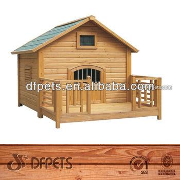 Fir Wood Dog Kennel with Veranda DFD004