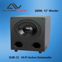 "OEM & ODM Power 12"" 200W SUB-12 Hi-Fi Subwoofer"