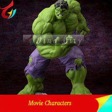 FRP Life Size Movie Statues Action Figure Hulk