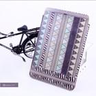High quality custom mini laptop book style leather case for ipad mini bag case