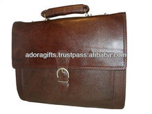 Mens leather executive bags / new arrival mens executive briefcase bags / brown leather executive bags