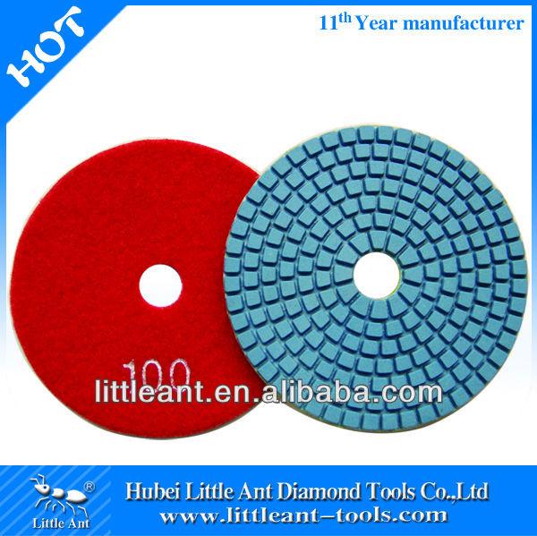 "4"" 100 grit diamond polishing pad blue disc by manufacturer"
