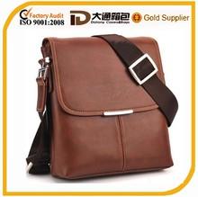 high quality men genuine leather messenger bag
