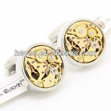 HEYCO gold functional watch movement mechanism designer cuff links cufflinks