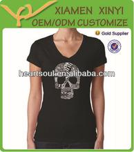 Best Sale High Quality Cotton V-neck Fashionable Female T-shirt